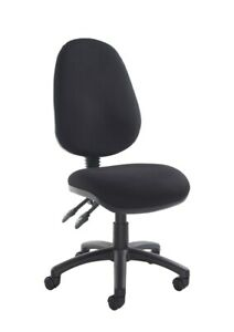 Vantage Fabric Operator Chair - 2 Lever without Arms - Charcoal V100-00-C