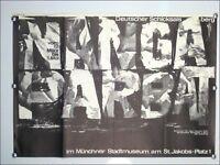 Austellungs Plakat A. Wischnewski Nanga Parbat München 1964 Künstler Poster 60er