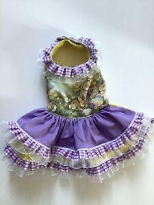 Easter Doggie Dress Handmade Size Medium