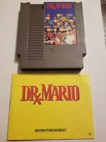 Dr. Mario w/Manual & Hard Case Nintendo NES Tested Authentic