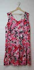 PIPER Woman Floral Pink & Black Full Skirt Dress Size 18