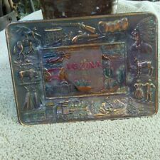 Arizon Copper Souvenir Platter.  History Unknown.  Made in Japan.