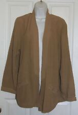 NEW Women XCVI Brown Sheer Long Sleeve Jacket Size XL