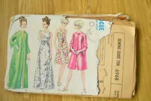 Simplicity Pattern 6968 Size 14 Women's Evening Dress and Coat
