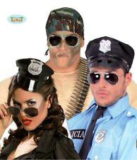 Occhiali A Specchio specifiche Costume Accessori 80s Top PILOTA polizia Fbi Esercito GUN