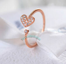Korean TV You who came from the stars Proposal adjustable Open Ring Heart Style