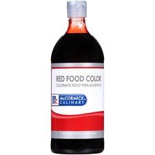 McCormick Food Coloring, Red, 32-Ounce, New, Free Shipping