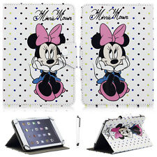 Mickey Minnie Universal Leather Case Cover For iPad 2 3 4/Air/Mini/Pro/9.7 2018