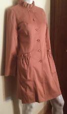 ( Gianfranco )FERRE JEANS  Vintage SALMON ROSE Cotton Coat/ Coat Dress, size 38