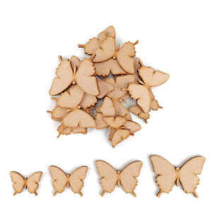 Butterfly MDF Craft Shapes Wooden Blank Decoration Embellishments bug insect art