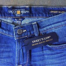 nwt LUCKY BRAND sweet n low/mid rise/easy fit/boot cut BLUE JEANS women 4/27