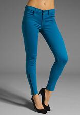 NWT J Brand 622 Mid Rise Super Skinny Zip in Azure Blue Stretch Jeans 24 x 29
