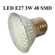 led lampada a risparmio energetico faretto Spot riflettore E27 3W 3000K 48 SMD