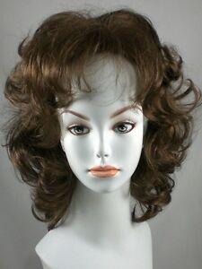 Wavy Blond Page Gypsy Wig w/ Bangs, Wigs w/ Loose Curls