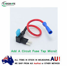 NEW Add A Circuit Fuse Tap Micro2 Blade Fuse Holder ATM APM 12v (1 x Free Fuse)