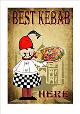 Kebab Cafe Sign Vintage Style Cafe Sign Shop Sign  Tea Room Sign Kitchen Sign