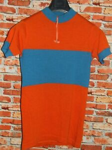 CYCLING JERSEY SHIRT MAILLOT CYCLING HEROIC VINTAGE 70'S 50% WOOL