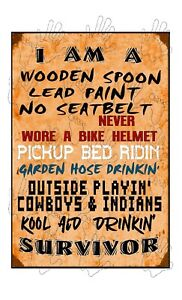 SURVIVOR WOODEN SPOON DRINKIN from HOSE PICKUP bed ridin COWBOYS KOOL AID sign