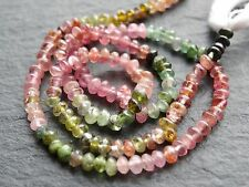 "MULTI TOURMALINE RONDELLES, 3mm, 13"", 135 beads"