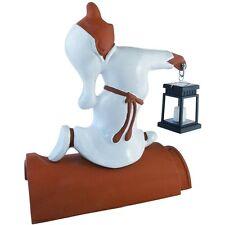 Firstfigur Feuerspeiender Drache schwarz glasiert 63 cm Dachschmuck Keramik
