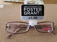 FOSTER GRANT READING GLASSES +1.00 NEW IN PACK