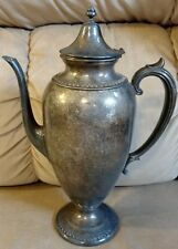 Silver plated coffee Teapot carafe pedestal