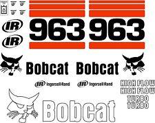 963 Replacement decals decal kit / sticker set skid loader steer fits bobcat