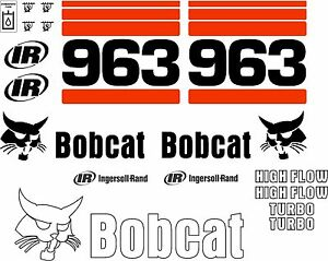 963 Replacement decals decal kit / sticker set skid loader steer fits bobcat