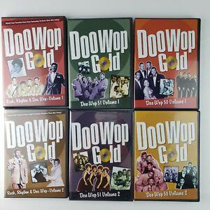 Doo-Wop Gold 6 DVD Lot Time Life Video 50, 51, Rock Rhythm Doo Wop, Volumes 1 2
