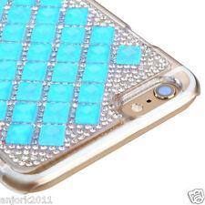 """iPhone 6 Plus (5.5"""") Snap Fit Back Cover 3D Bling Gem Case Blue Diamond"""