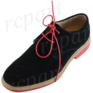 New men's shoes casual fashion lace up style oxfords synthetic suede Black