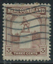 Newfoundland #133(6) 1923 3 cent brown WAR MEMORIAL Used