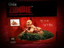 Chia Pet ZOMBIE Pottery Planter Dragging Drew in Box  As Seen On TV Walking Dead