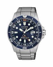 Citizen Eco-Drive Mens Promaster Titanium Band Blue Dial Divers Watch BJ7111-51M