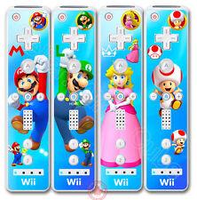 Super Mario Luigi Princess Peach Toad Skin Sticker Cover for Nintendo Wii Remote