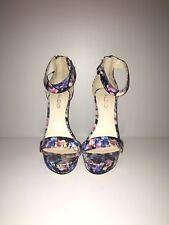 Aldo Floral Print High Heel Sandal In Size 4