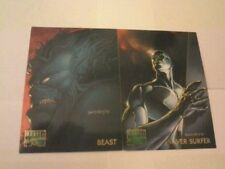 2 Signed Cards - MARVEL MASTERPIECE - DAVE DEVRIES '95 - Good Condition