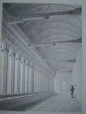 Impression architectural français 1851 ~ rapports de l'Eglise un PONT L'ABBE