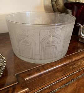 Magnificent Fornasetti Crystal Glass Engraved Bowl