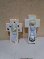 Lotto Di 2 Crocifisso Figurativo Di Marcaggi 60 70 Santa Vergine Gesù