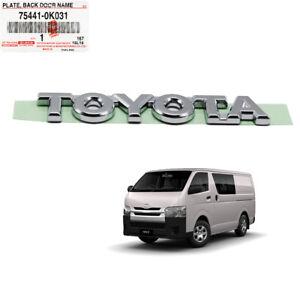 "Badge Emblem Logo ""TOYOTA"" Chrome Genuine Fits Toyota Hiace Commuter 2005 - 2017"