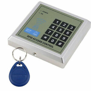Electric Lock RFID Door Access Control Controller System Kit + 10 Key Fobs Tags