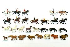 More details for preiser horses & riders painted figures animals ho gauge 1/87 scale b3