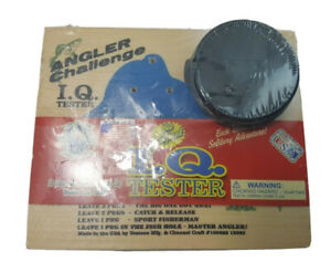 Vintage The Original I.Q. Tester| Angler Challenge Wood Board Game - Made in USA