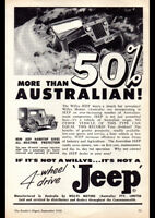 "1958 WILLYS JEEP 4WD AD A1 CANVAS PRINT POSTER FRAMED 33.1""x23.4"""