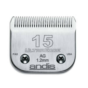 Andis UltraEdge Detachable Blade, Size 15 - Leaves 1.2mm, Fits Andis, Wahl, Oste