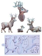 Karen Davies NEW Rustic Stag by Alice Sugarcraft Mould     FAST DESPATCH