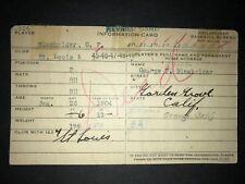 1925 BROWNS: George Blaeholder, Handwritten Heilbroner 3x5, Dec'd!
