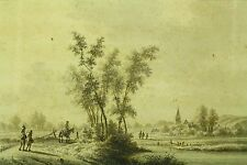 *1770 Nicolaas Wicart (Dutch, 1748-1815) Ink & Wash Landscape, Leskmond Town