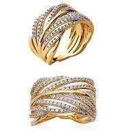Bague Collection Feuille Plaqué or 18 carats Bijoux Tailles 50-52-54-56-58-60